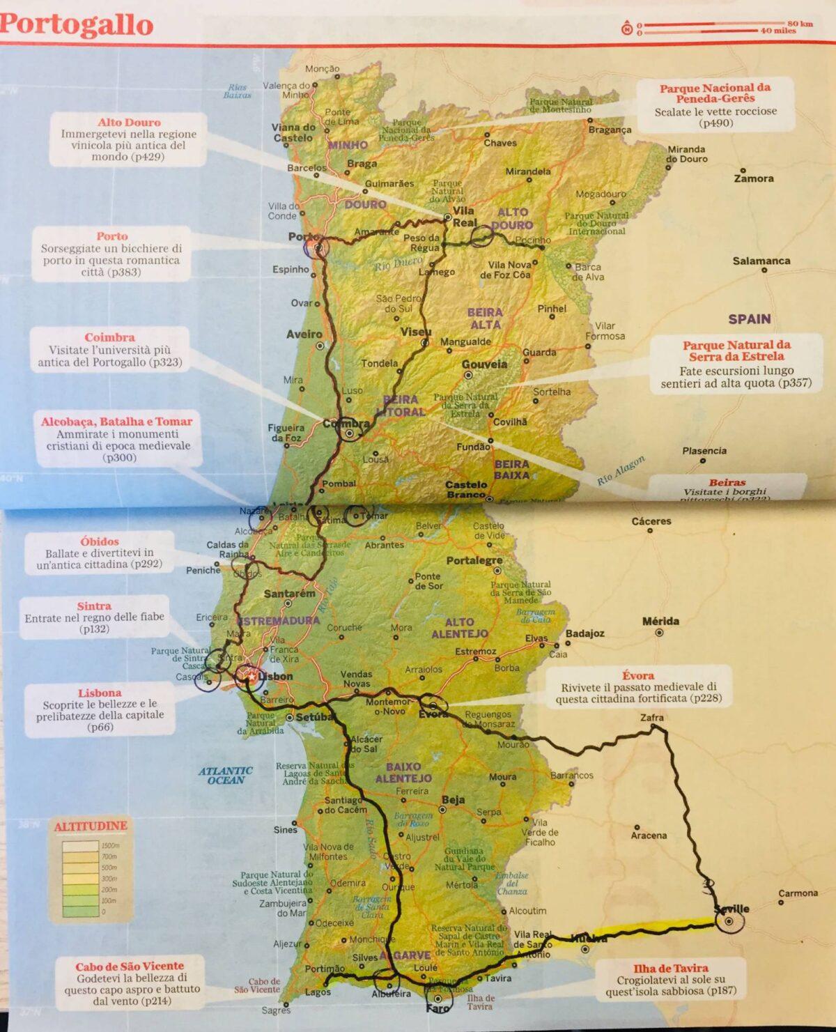 Itinerario di viaggio in Portogallo