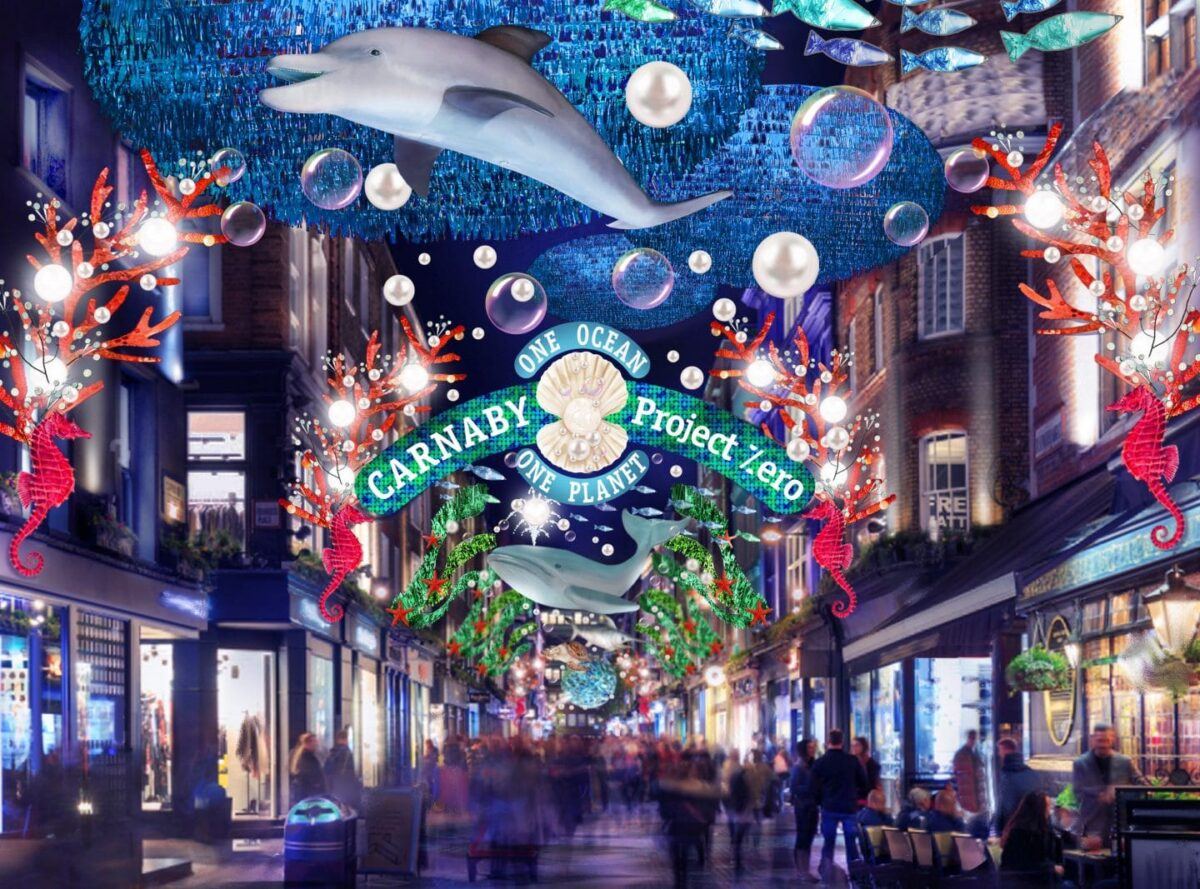Luci di Natale a Carnaby Street
