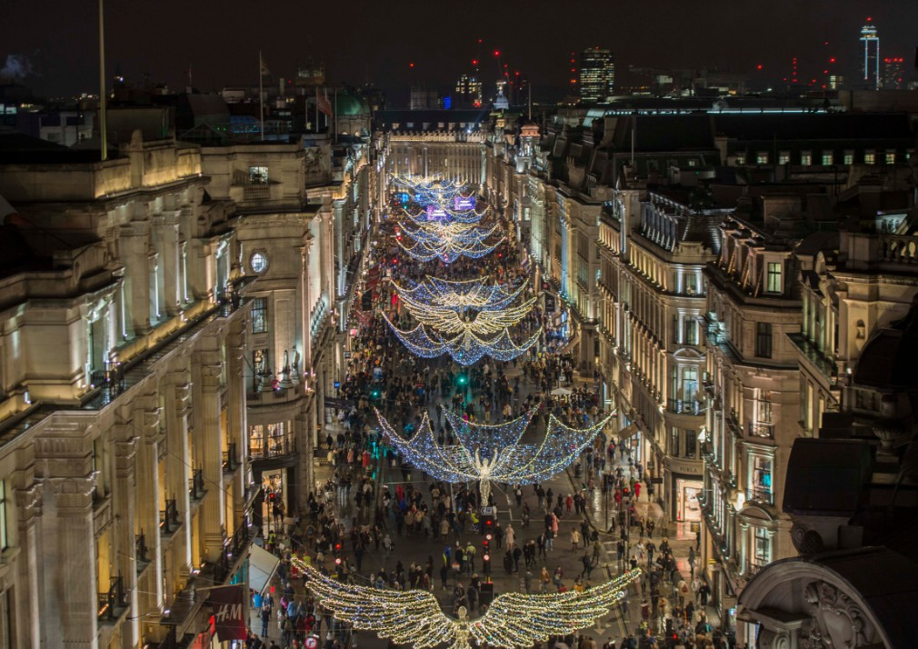 Luci di Natale in Regent Street